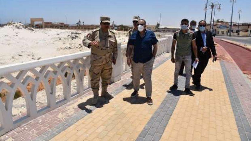 سكرتير عام محافظة مطروح يتابع بعض المشروعات