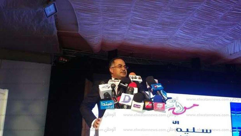 النائب سليمان وهدان وكيل مجلس النواب خلال كلمته بمؤتمر تأييد الرئيس السيسى
