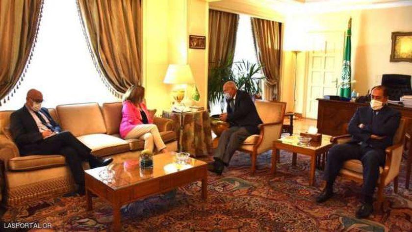 أبو الغيط لدى لقائه مندوبة الأمم المتحدة إلى ليبيا