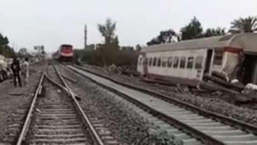 عودة حركة القطارات بموقع حادث قطار بنها