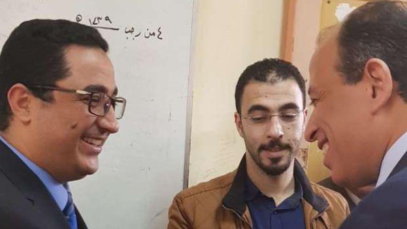 رئيس نادى قضاة مصر خلال الإدلاء بصوته