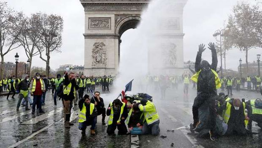 احتجاجات سابقة في  فرنسا