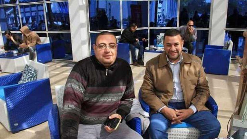 الصحفي الراحل محمود رياض والناقد الرياضي علاء حمام
