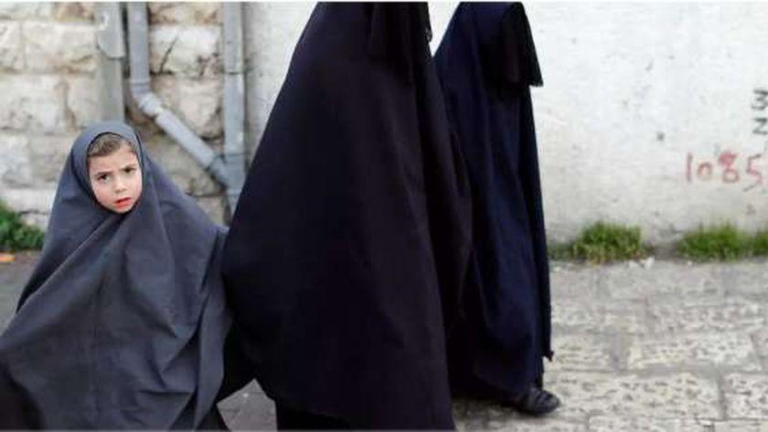 نساء يهوديات منقبات في القدس