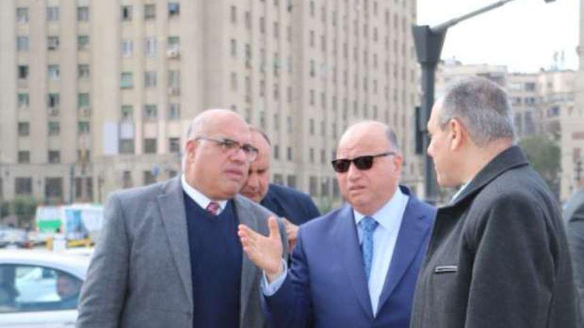 محافظ القاهرة يتابع أعمال تطوير ميدان التحرير