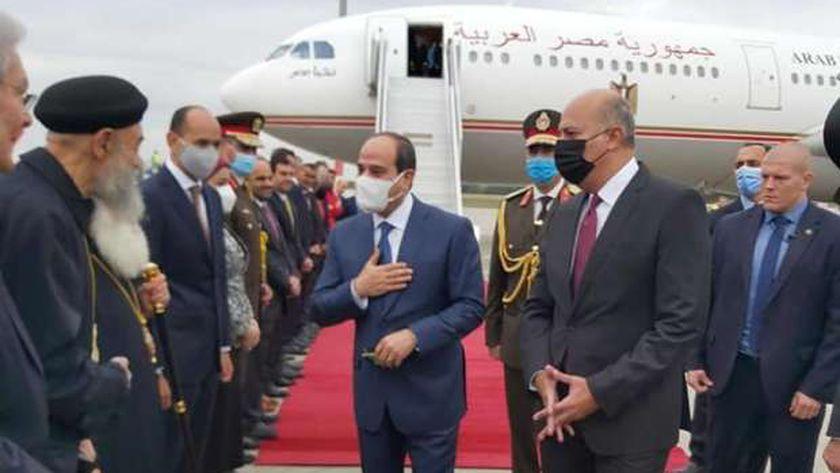 استقبال الجالية المصرية بالمجر للرئيس السيسي
