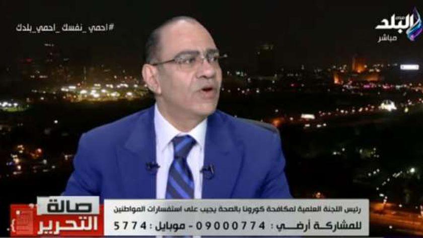 الدكتور حسام حسني رئيس اللجنة العلمية لمواجهة كورونا بوزارة الصحة