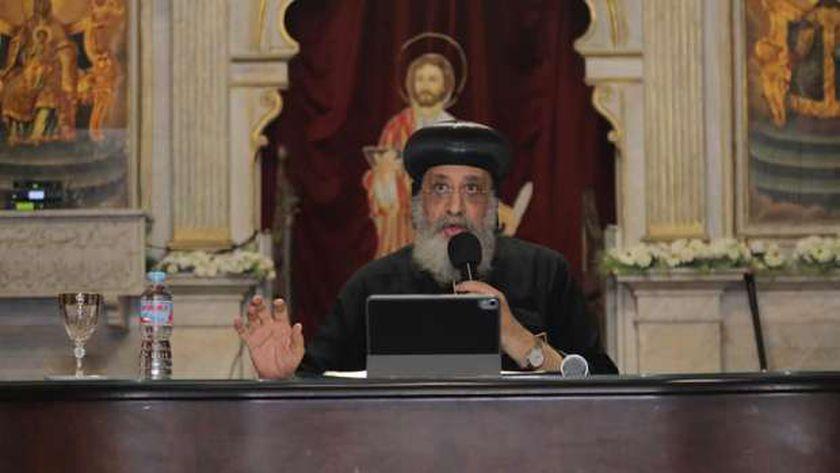 صورة للمرة الرابعة.. البابا تواضروس يلقي اليوم عظة الأحد على قنوات المتحدة – مصر