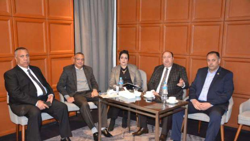 أنور رحيم رئيس الغرفة التجارية بمطروح خلال مشاركته فى منتدى الأعمال المصري الكرواتي