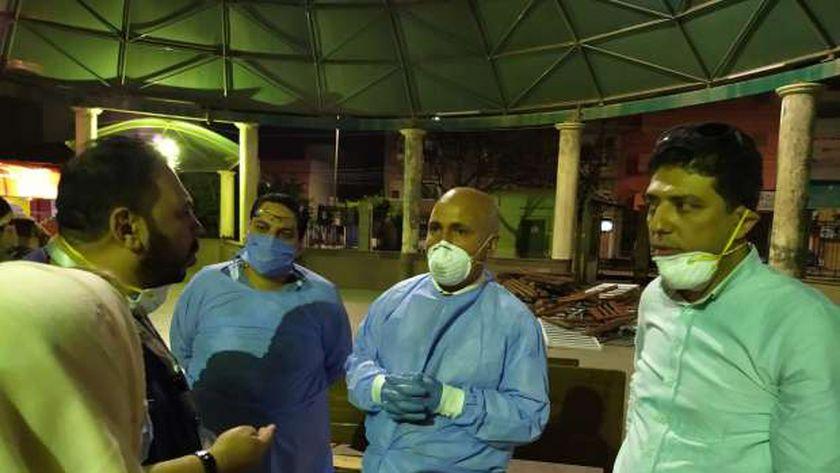 وكيل وزارة الصحة بالغربية يتفقد مستشفى الحجر الصحي بكفر الزيات