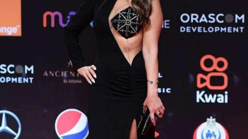فستان نجلاء بدر في مهرجان الجونة السينمائي