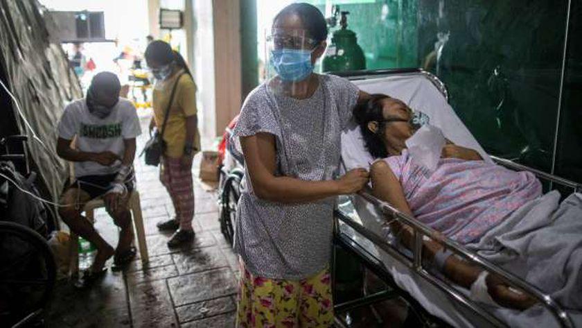 مرضى كورونا في إحدى المستشفيات الفلبينية