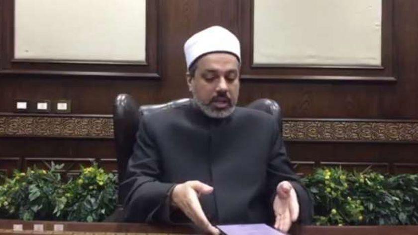 الدكتور أحمد ممدوح .. مدير إدارة الأبحاث الشرعية بدار الإفتاء المصرية