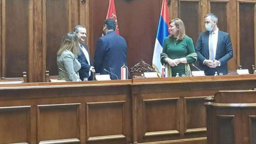 مشاركة سفير مصر في بلجراد كضيف شرف في أول اجتماع لجمعية الصداقة البرلمانية بتشكيلها الجديد