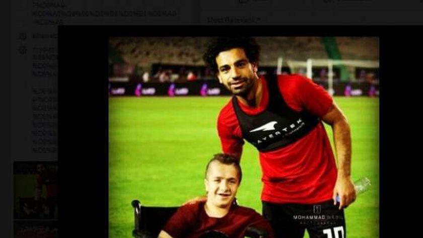 عمر فرج  مع اللاعب محمد صلاح