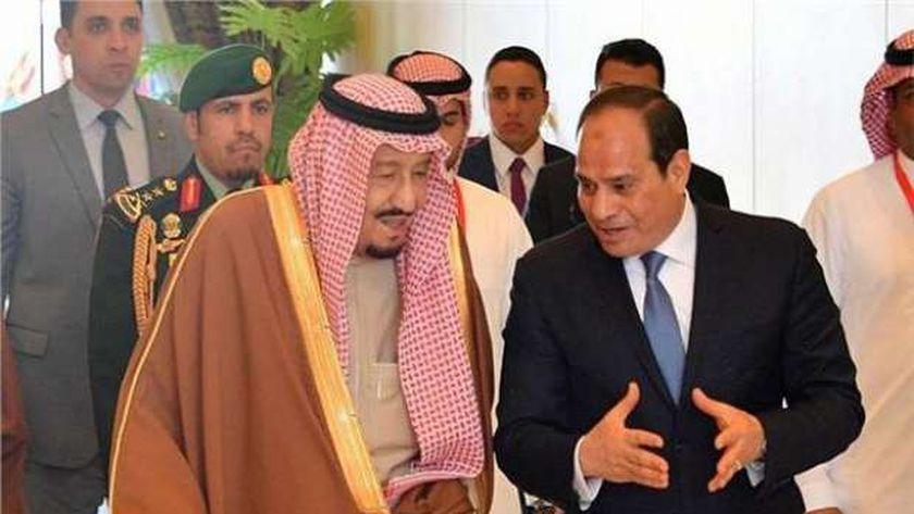 الرئيس عبدالفتاح السيسي مع العاهل السعودي الملك سلمان بن عبدالعزيز