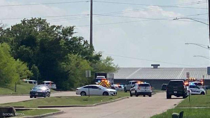 موقع حادث اطلاق النار في تكساس حسبما أفادت وسائل إعلام أمريكية