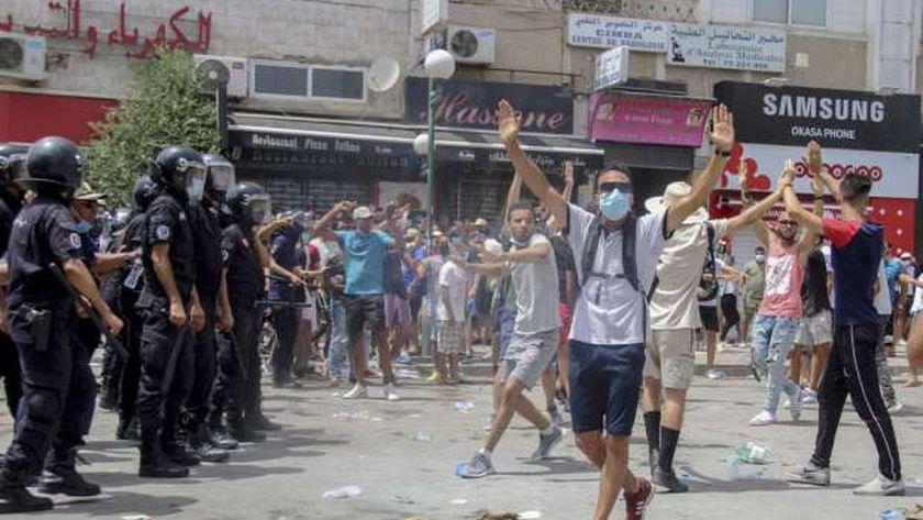 مظاهرات تونسية ضد جماعة الإخوان