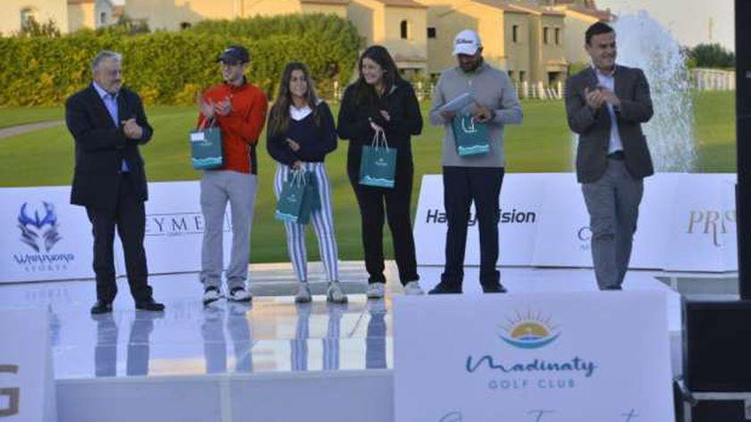 """الشافعي وجيونج وسكريلو أبطال منافسات بطولة """"مدينتي"""" المفتوحة للجولف"""