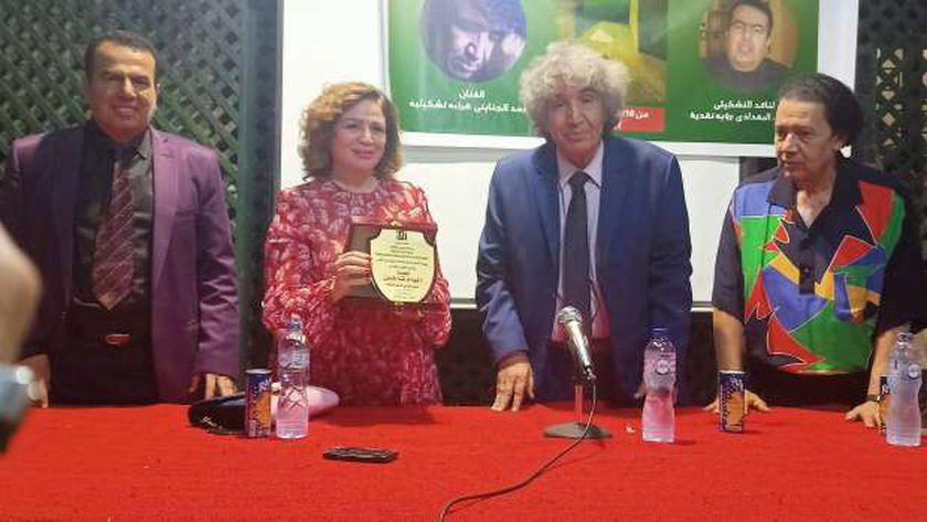 تكريم الفنانة إلهام شاهين في اتيلييه القاهرة