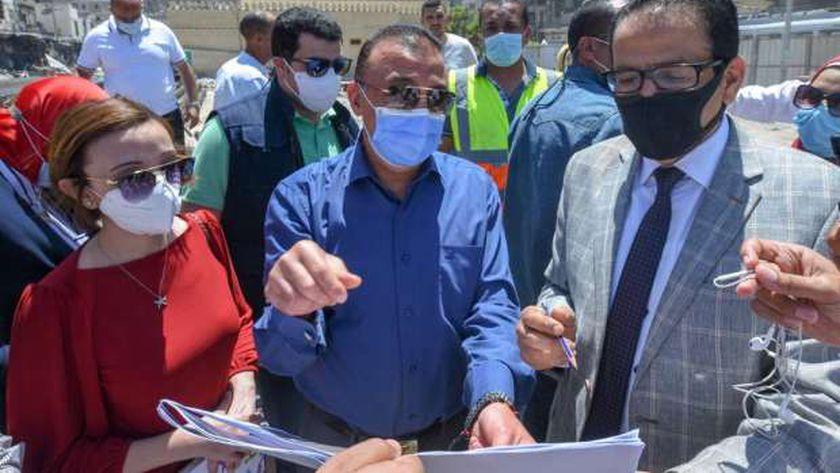 محافظ الإسكندرية يتابع أعمال تطوير محطة مصر