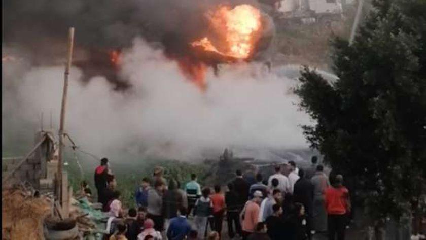 إنفجار شاحنة في الدقهلية