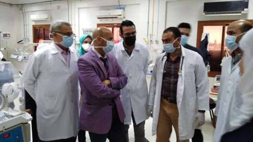 وكيل صحة الشرقية يتفقد مستشفي الحسينية المركزي
