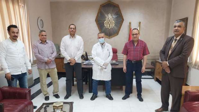 زيارة نقابة أطباء الدقهلية للتأمين الصحي