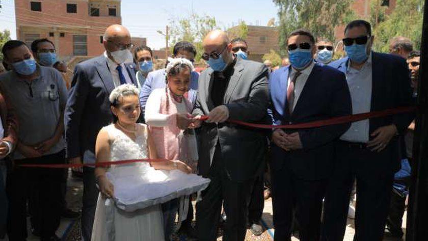 محافظ بني سويف يفتتح قسم الحضّانات بوحدة مازورة الصحية