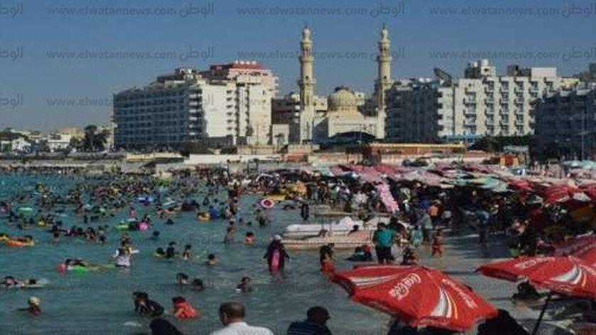شاطىء الليدو بمدينة مرسى مطروح