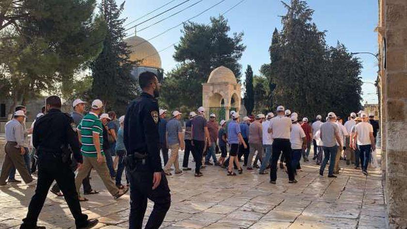 قوات الاحتلال ومستوطنون يقتحمون المسجد الأقصى - أرشيفية