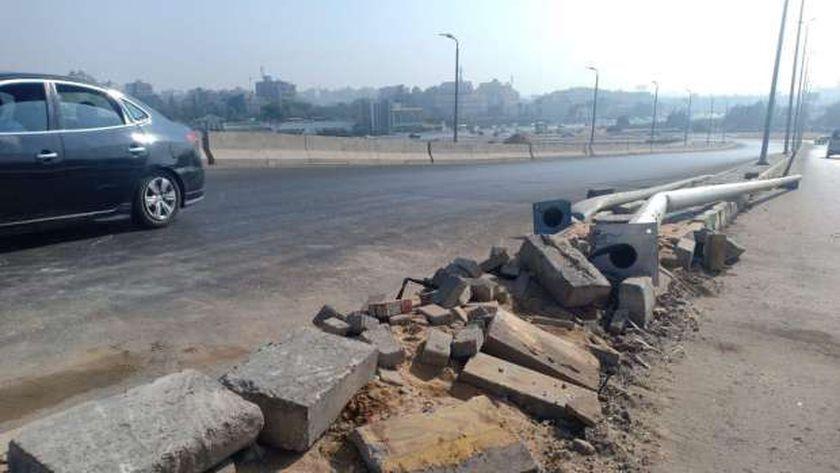 حادث أتوبيس المدرسة الخاصة الذي وقع صباح اليوم في منطقة الهرم.