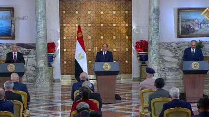 جانب من إعلان القاهرة