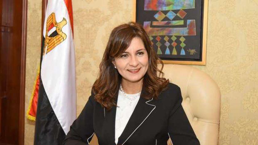 السفيرة نبيلة مكرم وزيرة الهجرة وشؤون المصريين في الخارج اثناء حوارها مع الوطن