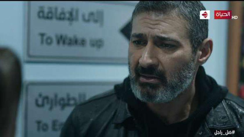 ياسر جلال في مشهد من مسلسل ضل راجل