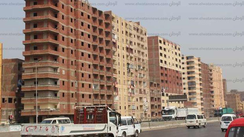 مجموعة من العمارات المخالفة التي تنتشر في ربوع مصر