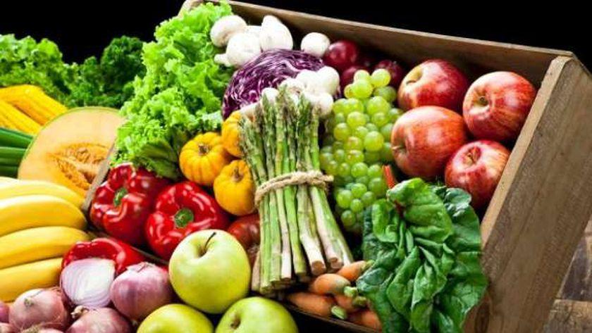 خضروات وفاكهة ملونة