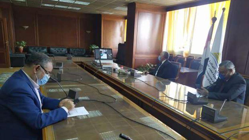 اجتماع وزيري الري والزراعة عبر الفيديو كونفرانس