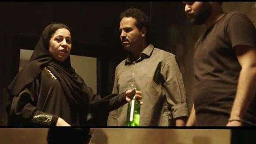 مشهد يجسد الإرهابية سامية شنن في مسلسل الاختيار 2