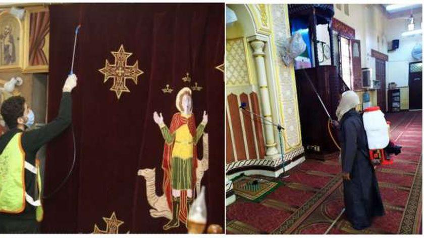 عمليات تعقيم المساجد والكنائس تواصلت خلال فترة إغلاقها