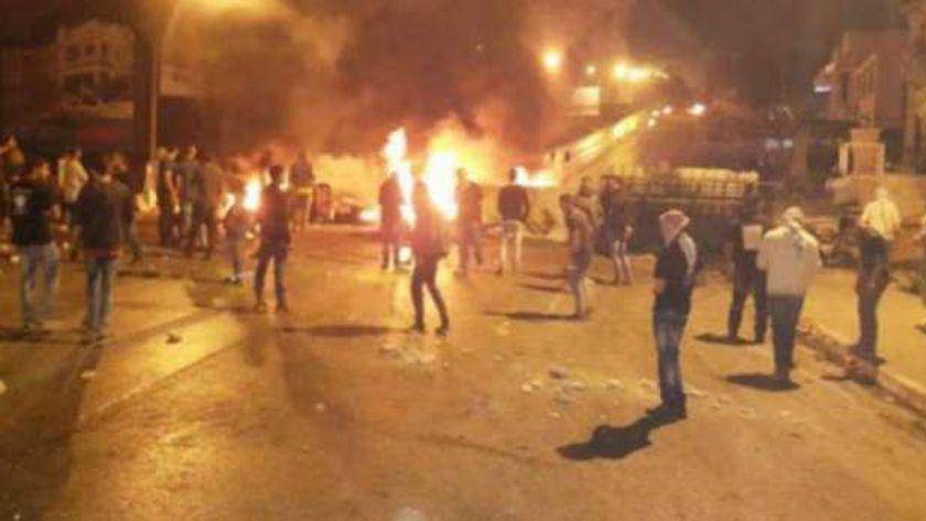 احتجاجات فى تونس