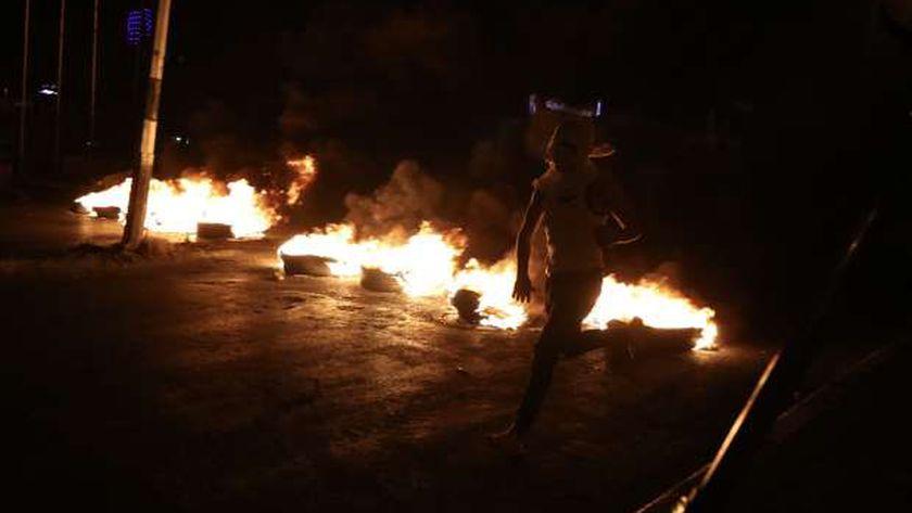 اشتباكات بين الفلسطينيين والاحتلال