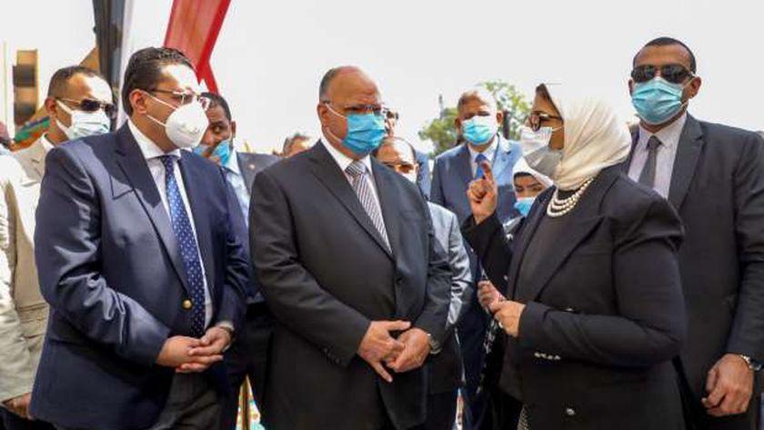 وزيرة الصحة تتفقد إنشاء مستشفى بولاق أبوالعلا.. تكلف 750 مليون جنيه