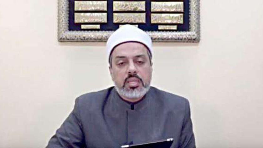 الدكتور أحمد ممدوح مدير إدارة الأبحاث الشرعية بدار الإفتاء المصرية
