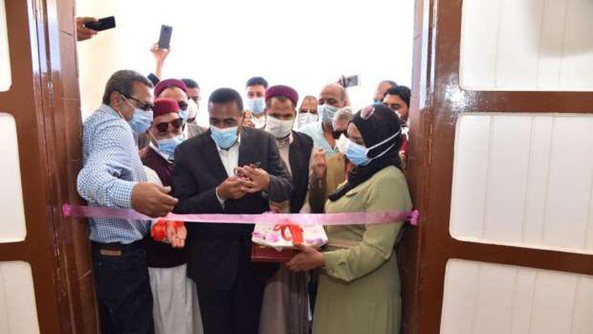 محافظ مطروح خلال افتتاحة مبنى الوحدة المحلية لقرية الزغيرات