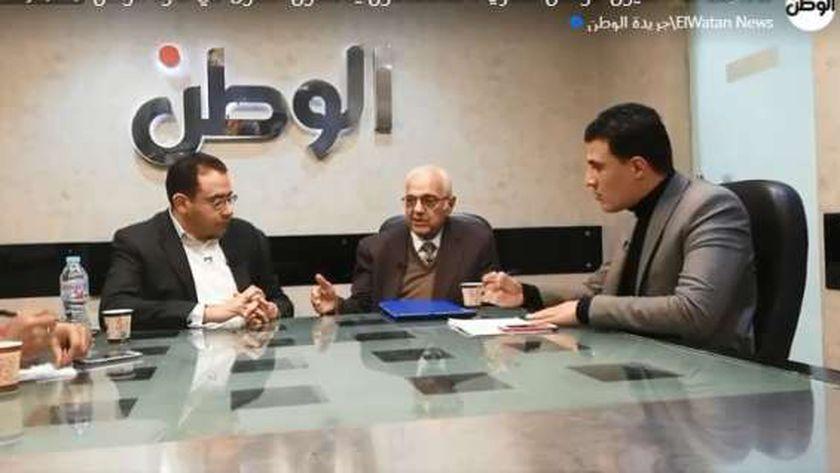 الدكتور عمرو حسن، مقرر المجلس القومي للسكان سابقا خلال ندوة «الوطن»