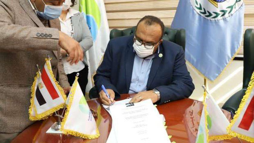 المهندس محمد صلاح الدين عبد الغفار رئيس شركة مياه الشرب والصرف الصحى بأسيوط والوادى الجديد