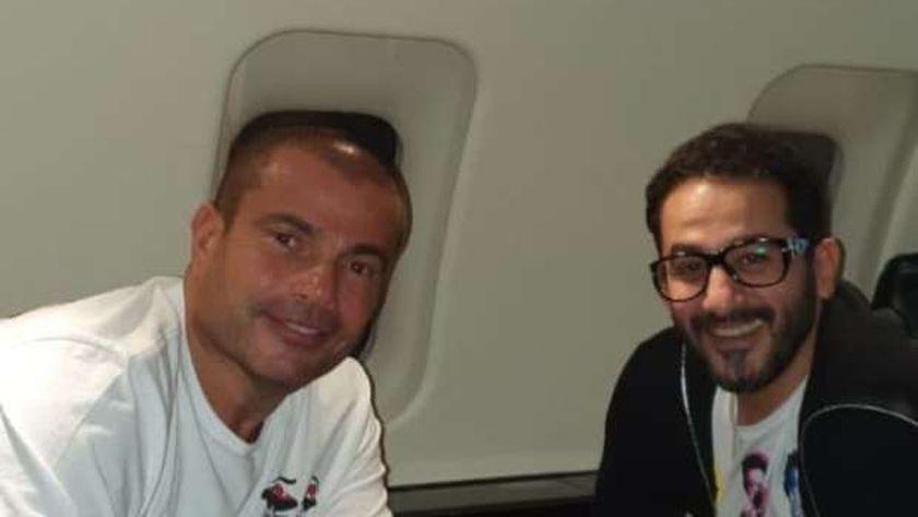 أحمد حلمي والهضبة عمرو دياب