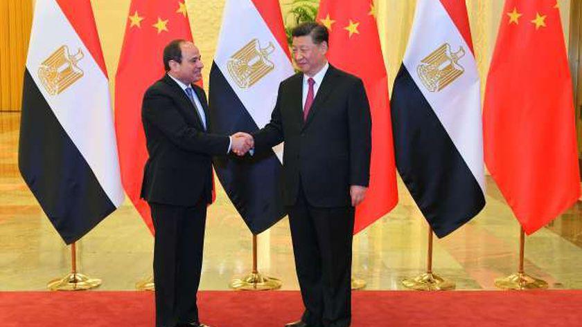 الرئيس عبد الفتاح السيسي خلال زيارته للصين