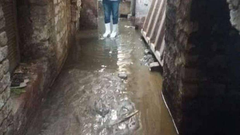 المياه الجوفية تغرق المنازل بأسيوط والمحافظ  يشكل لجنة لحل مشكلة